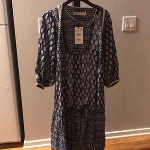 Zara S-XS Bohemian Blue Kimono NWT